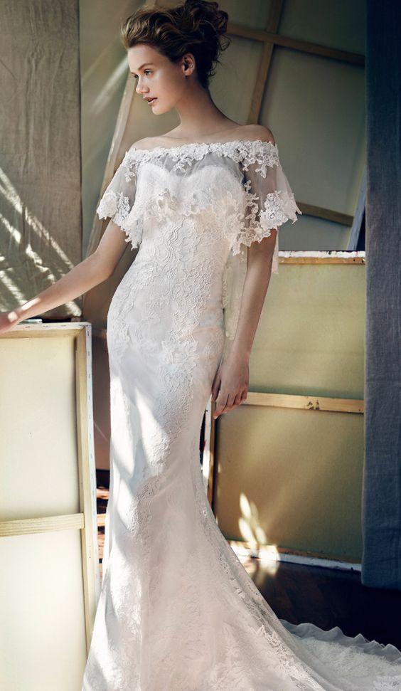 Featured Dress: Lusan Mandongus; Wedding dress idea.