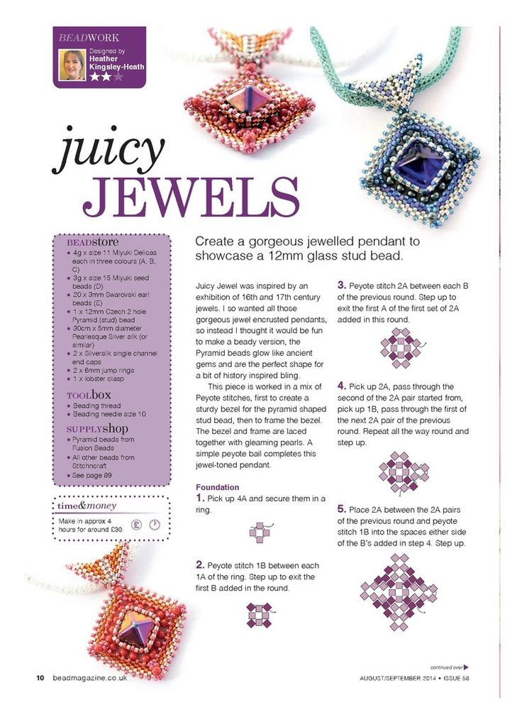 3753 best Beaded bracelet, necklace and pendant tutorials images ...