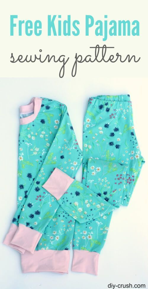 Free kids pajama sewing pattern. Perfect fit for older kids. Get the downloadable PJ pattern now!