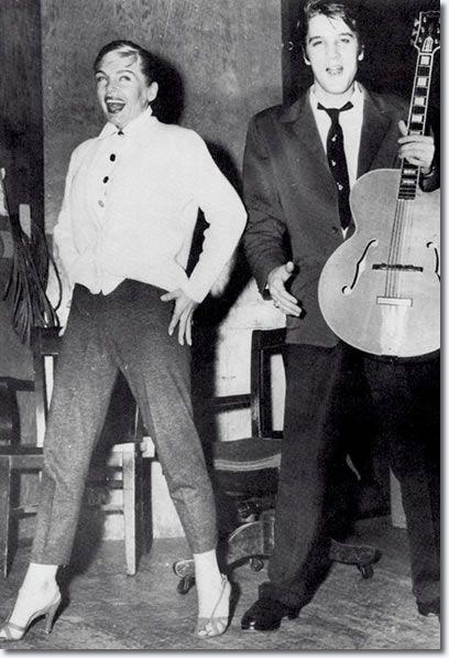 Lizabeth Scott and Elvis Presley - Paramount Studios