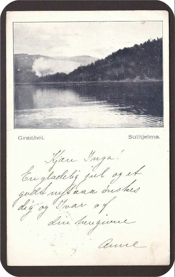 Sulitjelma. Granhei. Utg W.S. & Co. Stemplet Sulitjelma -1902