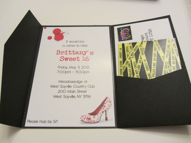 "Crime Scene / Birthday ""Britt's Crime Scene: Sweet 16""   Catch My Party"