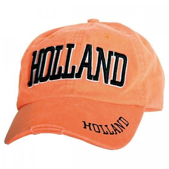 Baseball Cap oranje stonewash