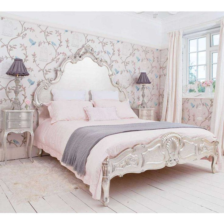 Sylvia Silver Luxury Bed - French Bedrooms