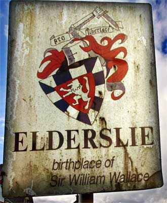 PAISLEY - Elderslie borders Paisley - Birthplace of Sir William Wallace Of Elderslie