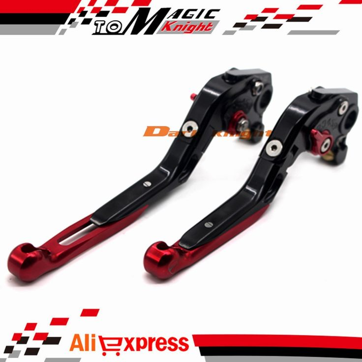 48.39$  Buy here  - For DUCATI MONSTER 400 695 620/MTS S/S2R 800 Motorcycle CNC Billet Aluminum Folding Extendable Brake Clutch Levers Black+Red