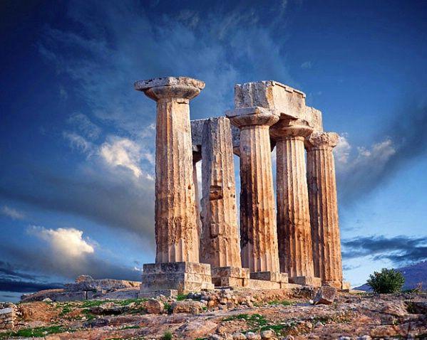 Apollo Temple, Corinth, Greece, 8th century B.C.,