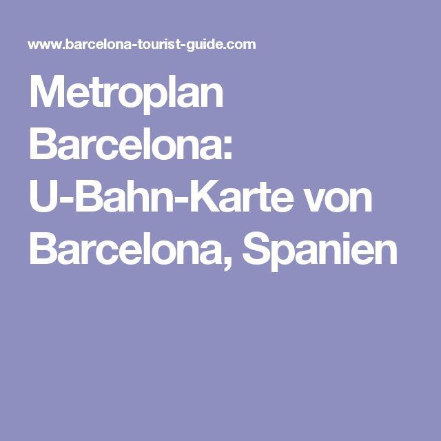 Metroplan Barcelona: U-Bahn-Karte von Barcelona, Spanien