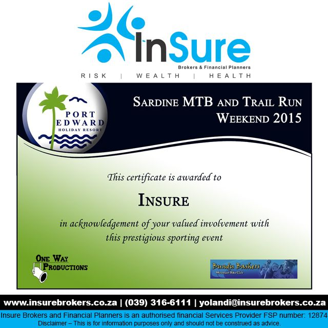 INsure Brokers gets involved with the community at the Sardine MTB Challenge #INcares http://buff.ly/1L5VRnC