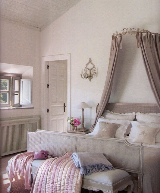 Captivating Taupe Bedroom With Canopy