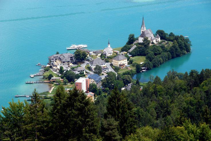Resort town of Maria Wörth, Austria. More: http://en.wikipedia.org/wiki/Maria_W%C3%B6rth
