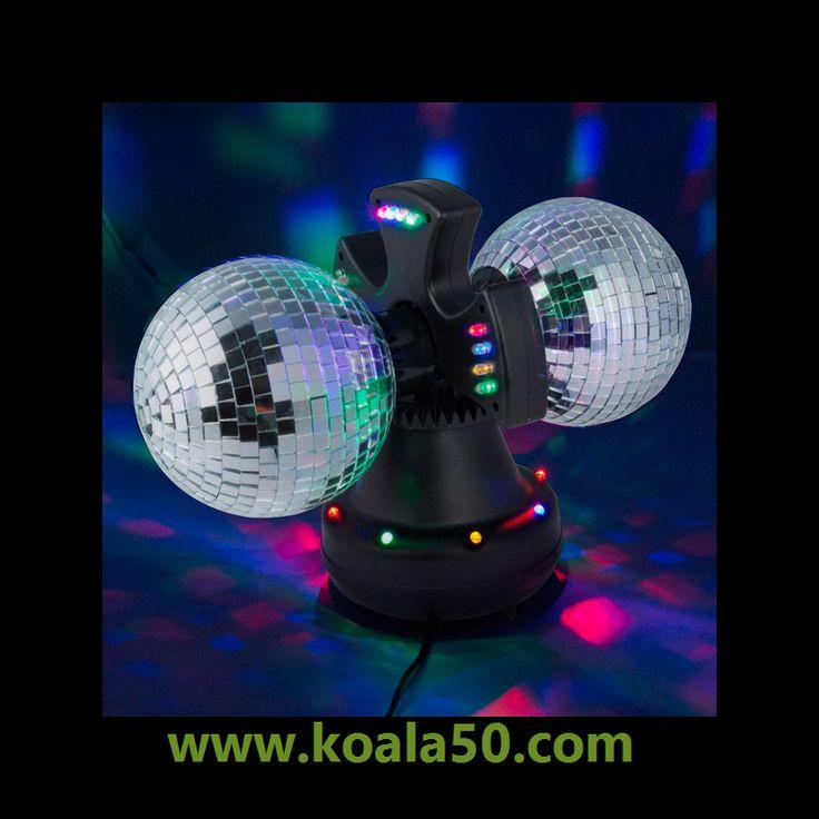 Bola de Discoteca Doble con Espejos - 21,49 €  ¿Quieres la guinda ideal para tus celebraciones? Pues ahora no tendrás excusas, porque te proponemos la bola de discoteca doble con espejospara que ambientes tus eventos con la mejor...  http://www.koala50.com/iluminacion-led/bola-de-discoteca-doble-con-espejos