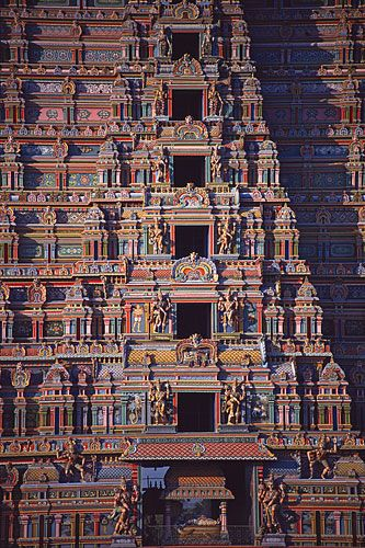 Srirangam Vishnu Temple in the city of Tiruchirappalli (the largest temple complex in all of India)