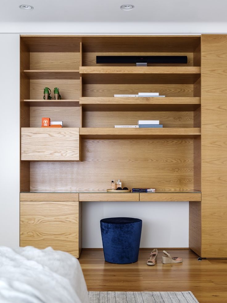 INTERIORS Alwill Interiors ARCHITECTURE Alwill Design  #bedroom #wood #woodenshelving