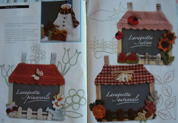 21 best lavagnette decorate images on pinterest feltro - Lavagnette per cucina ...