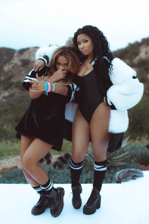 beyoncé, nicki minaj, and feeling myself image