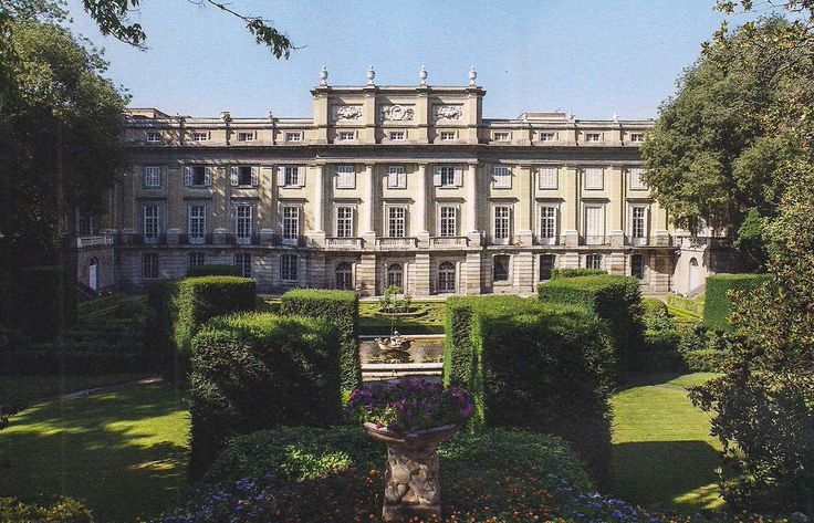 The Devoted Classicist: Palacio de Liria: The Madrid Residence Of The Duchess Of Alba  The garden view of Palacio de Liria, also known as Liria Palace, Madrid, Spain.