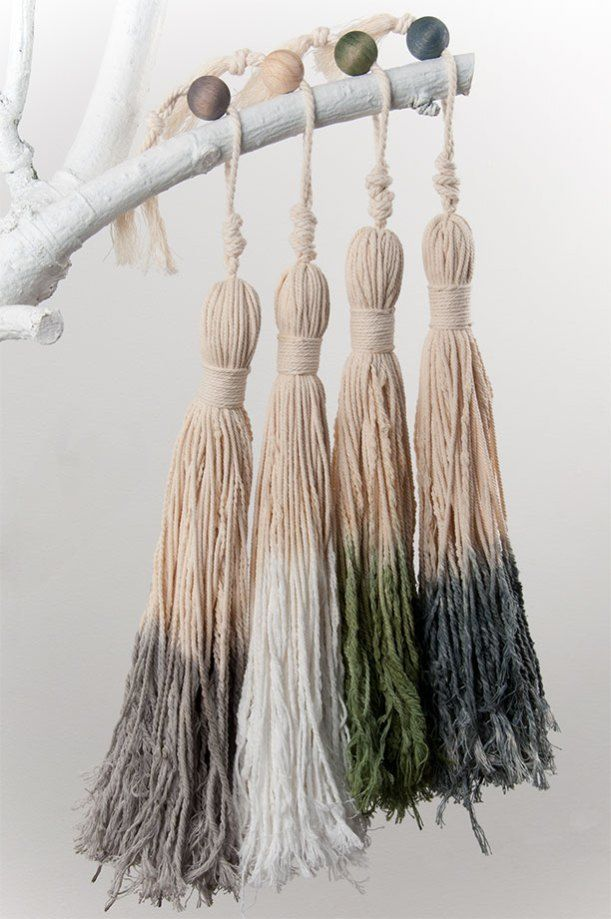 ✚ GREYTBASICS decoration - Cotton tassels [dip & dye]
