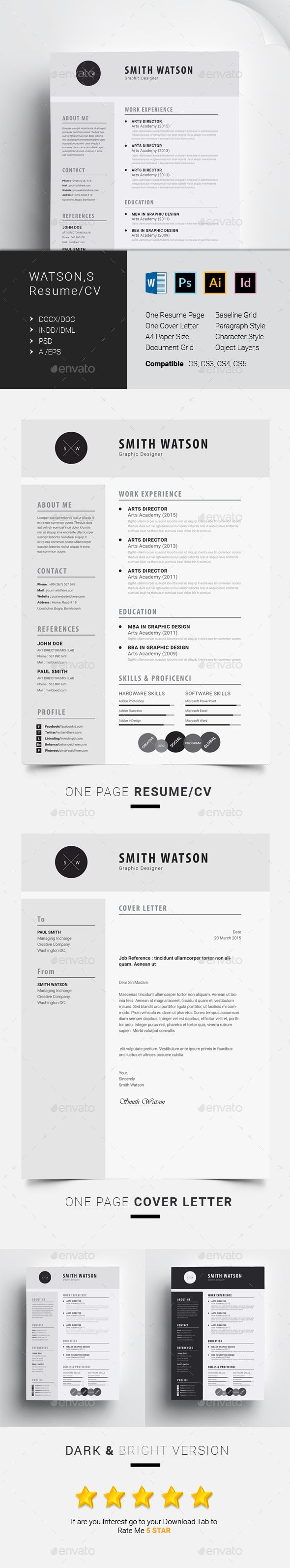 37 Best Cv Modernes Images On Pinterest Hunting Resume And Cv