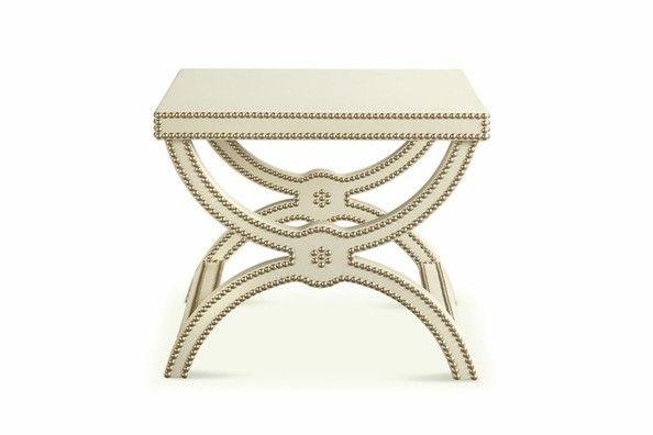 ivory + nail trim {Alexandre Stool - lonny.com}