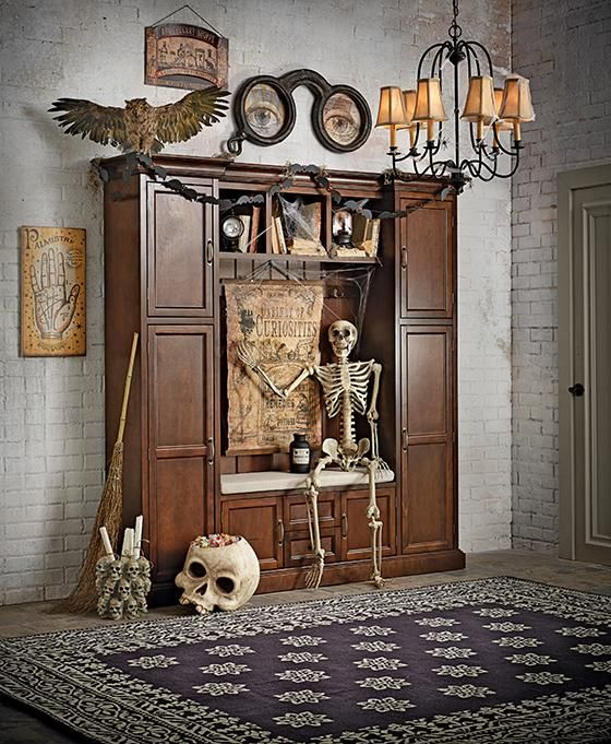 get halloween ready with all the right decor from skeletons to creepy crows and - Halloween Home Ideas