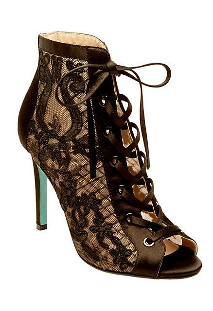 af2b1ab01f3 Black Lace Stilettos by Betsey Johnson - unique style stilettos with a black  Mesh Embroidery upper lace material a new style by Betsey Johnson ...