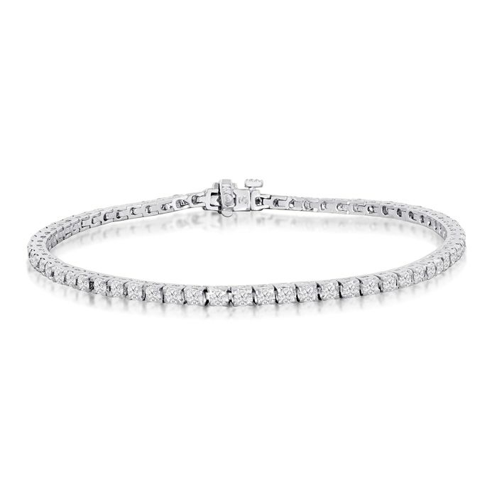 Diamond Tennis Bracelet 2 1 2 Carat Diamond Tennis Bracelet In 14 Karat White Gold 6 Inches Tennis Bracelet Diamond Black Diamond Bracelet Diamond Bracelets