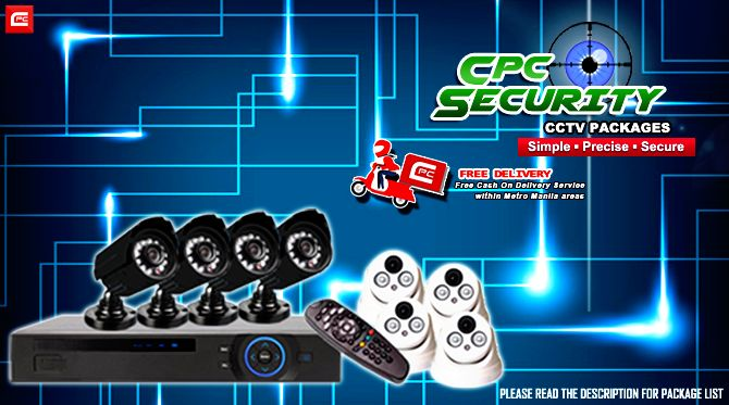 """PLEASE READ CAREFULLY. SOME OF YOUR QUESTIONS MIGHT BE ANSWERED ON POST'S DESCRIPTION!  Control your security with these CPC Security CCTV Packages. Simple, precise and secure packages. Don't be the easy target!  Get yours now and be protected! Because with Cheapid Computer, sigurado #CheapidAko.  """"FREE DELIVERY WITHIN METRO MANILA AREAS""""  NOTE: For Installation. Please message us for quotation.  CPC Security Set - 01 (4CH 1.0MP) Php 8,600.00  1x  4CHA DVR 720P 2x  DOME TYPE CAMERA HD-13 2x…"""
