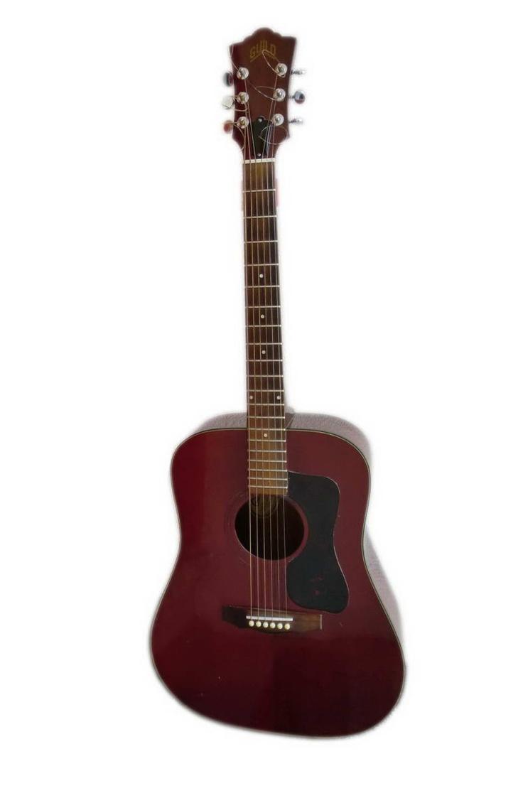 Vintage Guild Acoustic Guitar D25 D-25 CH USA Mahogany / Cherry Top...Jim's guitar!