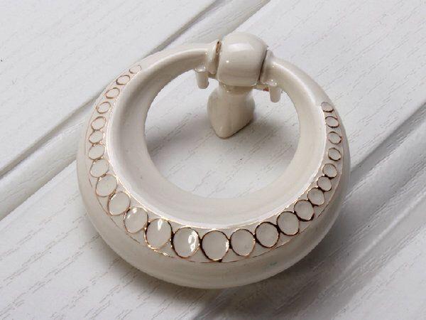White Dresser Drawer Knobs Pulls Handles Drop Ring Drawer Pull Handles Gold Circles / Furniture Kitchen Cabinet Handle Knob Hardware by LynnsHardware on Etsy https://www.etsy.com/listing/203698213/white-dresser-drawer-knobs-pulls-handles