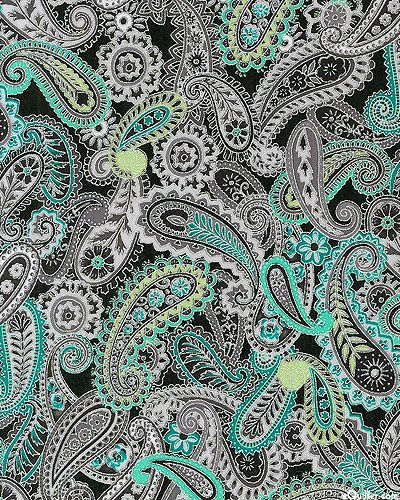 eQuilter Paisley Peacock -Paisleys - Black/Silver
