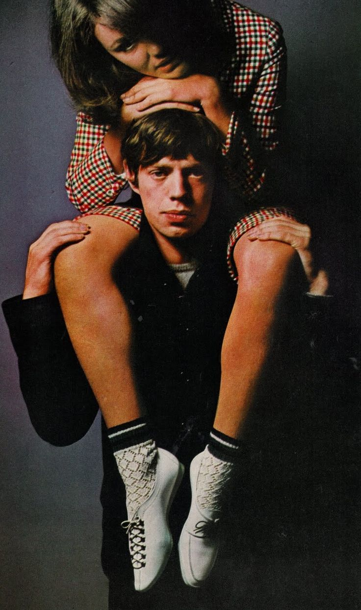 1960's fashion Mick Jagger and model. | 1960s | Pinterest ...