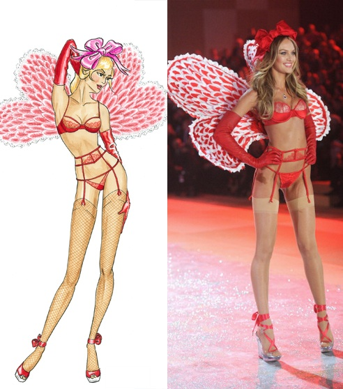Look - Tfs victorias exclusive secret fashion show sketches video
