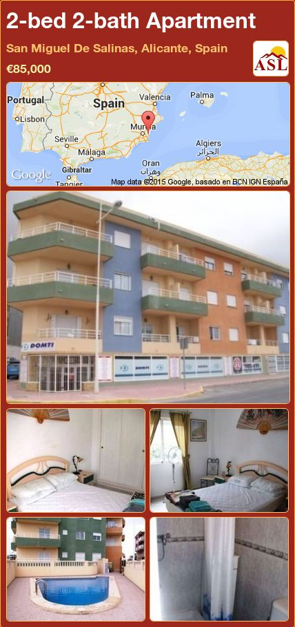 2-bed 2-bath Apartment in San Miguel De Salinas, Alicante, Spain ►€85,000 #PropertyForSaleInSpain