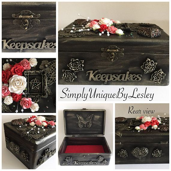 Gothic Keepsake Box Emo Wedding Gift Idea Birthday Gift Keepsake Boxes Wedding Gifts Birthday Gifts