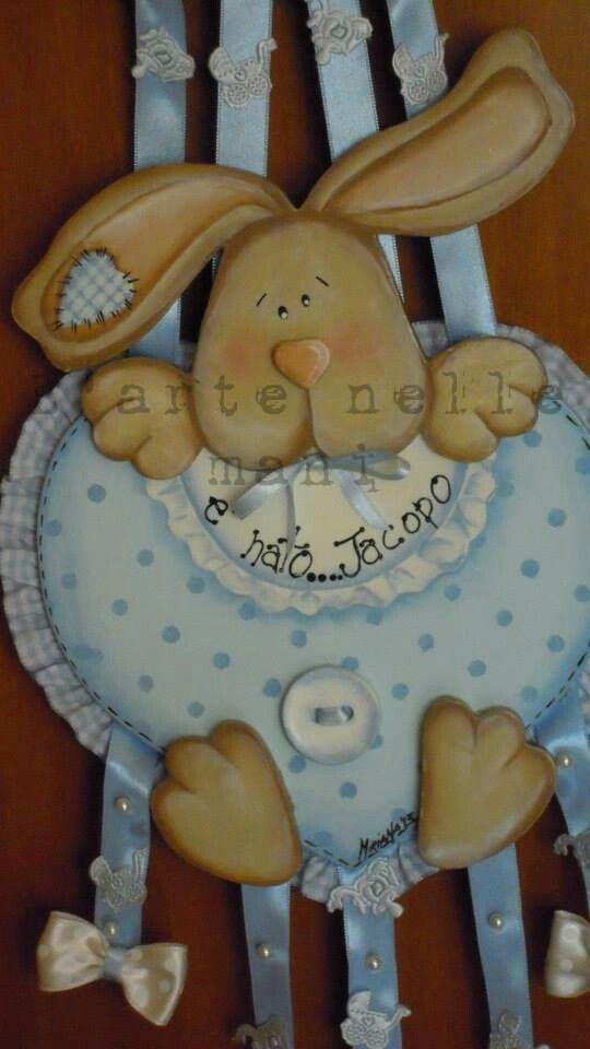 Coccarda nascita :particolare dipinto