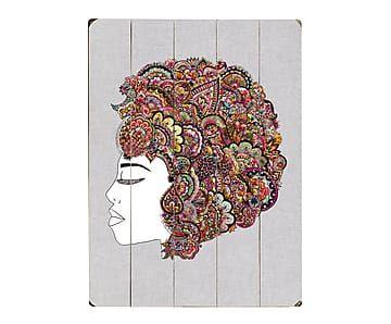 Cuadro de madera Hair - 35,6x50,8 cm