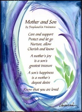 Quotes Love Mother Has Her Son : MOTHER and SON Original Poem Inspirational Quote Family Child Saying ...