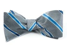 Bow Ties - VOCAL STRIPE - SILVER
