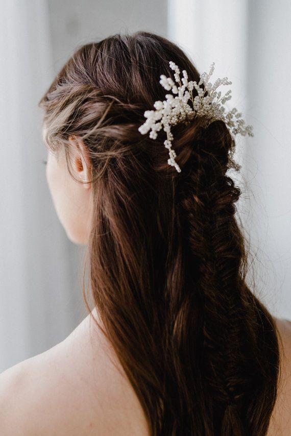 SALE Bridal Hair Comb  Pearl Hair Comb  Pearl Wedding