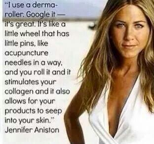 Derma/Amp-ROLLER by RODAN + FIELDS Yup, even Jennifer Anniston http://www.swright10.myrandf.com