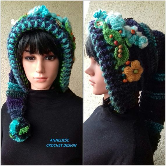 Elf Hat/Pixie Hat /long tail hat /Fairytales Hat with