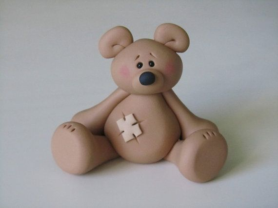 Polymer Clay Bear Figurine Polymers So Cute And Fimo