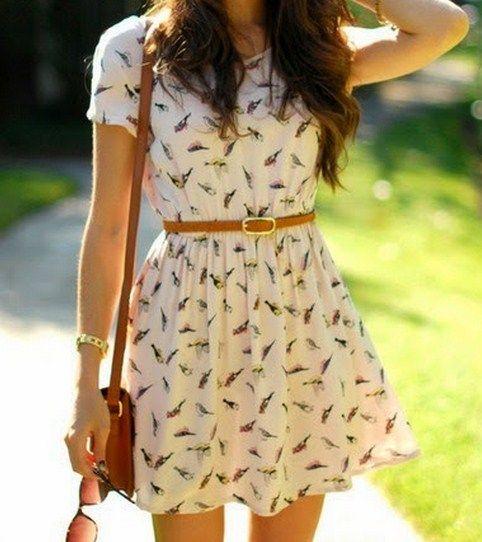 vestidos casuales floreados♥