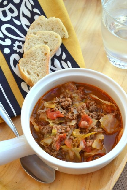 Hamburger Cabbage Soup | Cookin' Cowgirl #healthysoup #lowcarb #recipe