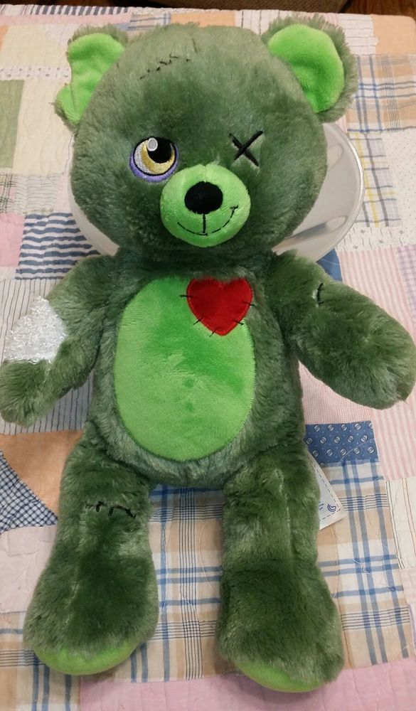 Build a Bear Halloween Zombear Green Plush Zombie Stuffed Animal monster | Dolls & Bears, Bears, Build-a-Bear | eBay!