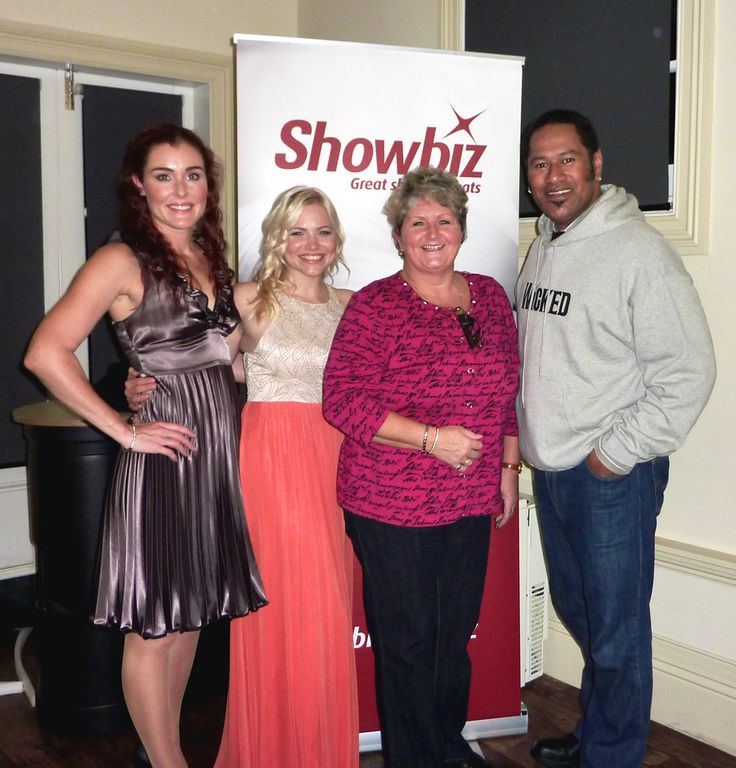 At a recent industry event with Showbiz NZ in Hamilton, captured after the media signage and been pulled down.  WICKED opens at the Civic Theatre in Auckland on 17 September 2013.