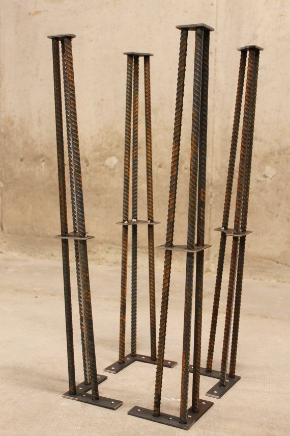 Metal mesa piernas 28 Set de 4 patas 1/2 por nakedMETALstudio