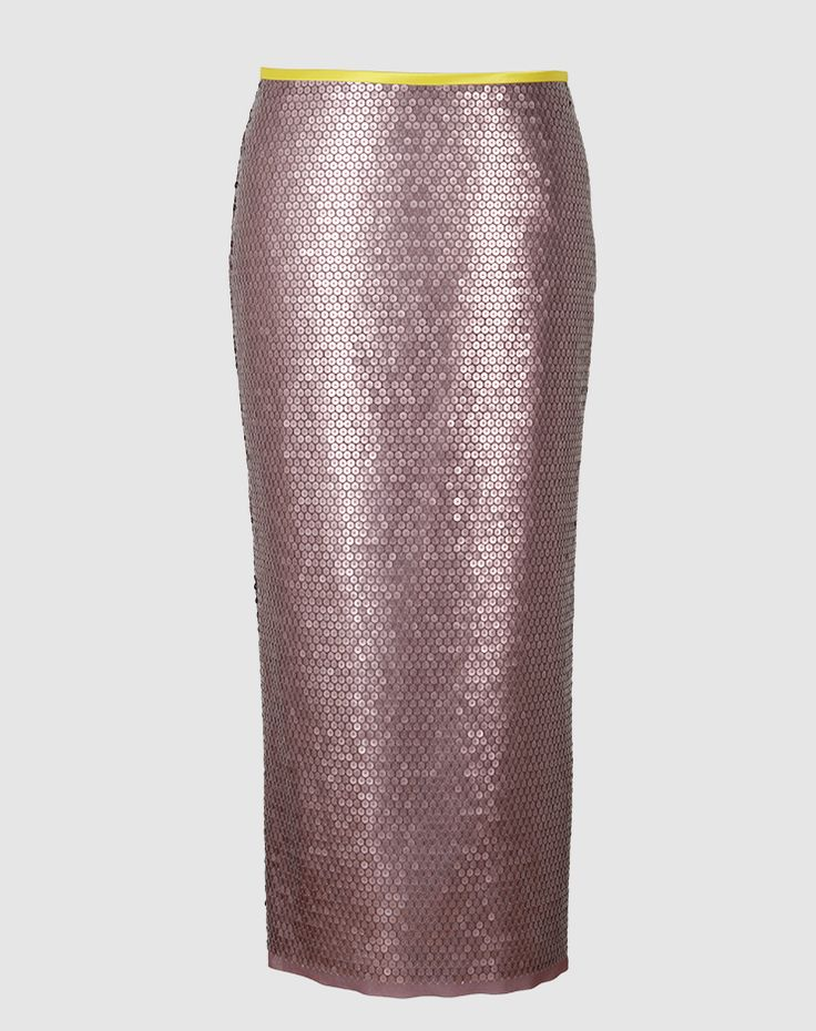 Gala long- The Gala pencil skirt, made of embroidered fabric from Jakob Schlaepfer with matte sequins, is extremely comfortable and flattering. Swiss made