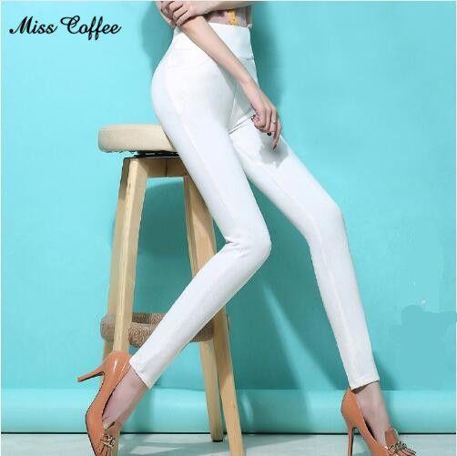 0260e1945f8ed 2017 Women High Stretch Cotton Leggings 18 Candy Color Ladies High Waist  Plus Size Pencil Pants S-6XL Female Skinny Leggings